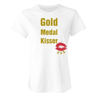 Gold Medal Kisser Junior Fit Bella Sheer Longer Length Rib Tee