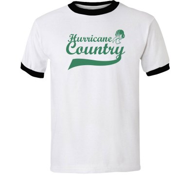Hurricane Country Unisex Anvil Ringer Tee