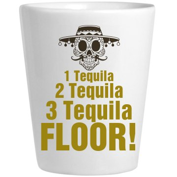 Cino de Tequila Shot Ceramic Shotglass