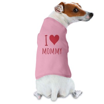 I Heart Mommy Dog Tee Doggie Skins Dog Ringer Tee