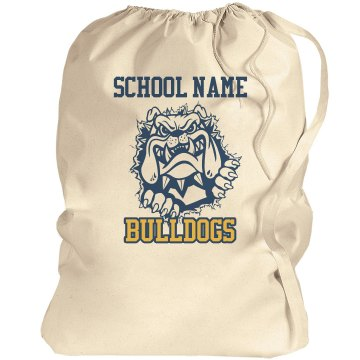 Bulldog School Mascot Port Authority Laundry Bag
