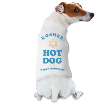 Kosher Hot Dog Doggie Skins Dog Hoodie Tee