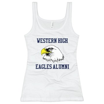 High School Alumni Tank Junior Fit Soffe 2x1 Rib Tank Top