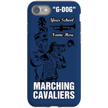 Marching Band iPhone 4 Rubber iPhone 4 &amp; 4S Case Black