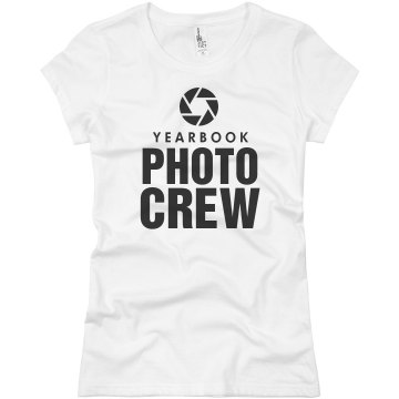 Yearbook Photo Crew Junior Fit Basic Bella Favorite Tee