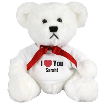 I Heart You Sarah Medium Plush Teddy Bear