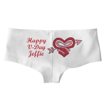 Happy V-Day Bella White Basic Hotshort