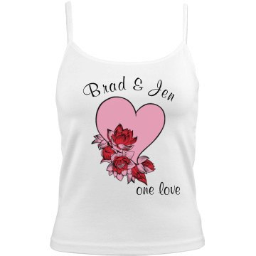 Brad and Jen Cami Bella Junior Fit Camisole