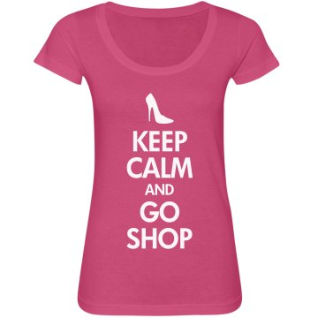 Keep Calm & Go Shop Junior Fit Bella Sheer Longer Length Scoopneck Tee