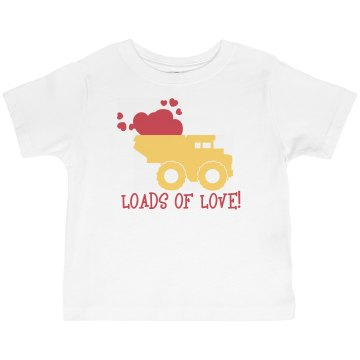 Loads Of Love Toddler Basic Gildan Ultra Cotton Crew Neck Tee