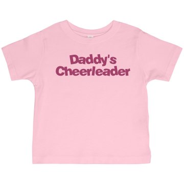 Daddy's Cheerleader Toddler Basic Gildan Ultra Cotton Crew Neck Tee