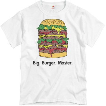 Big Burger Master Unisex Basic Gildan Heavy Cotton Crew Neck Tee