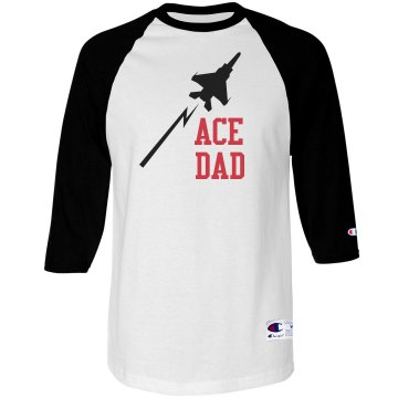 Ace Dad Unisex Anvil 3/4 Sleeve Raglan Baseball Tee
