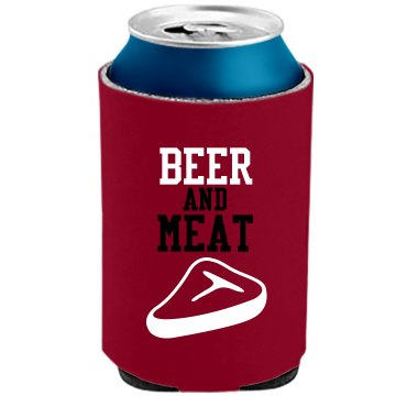 Beer and Meat Koozie The Official KOOZIE Can Kooler