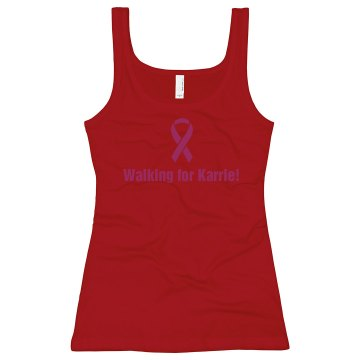 Breast Cancer Walk Tank Junior Fit Soffe 2x1 Rib Tank Top