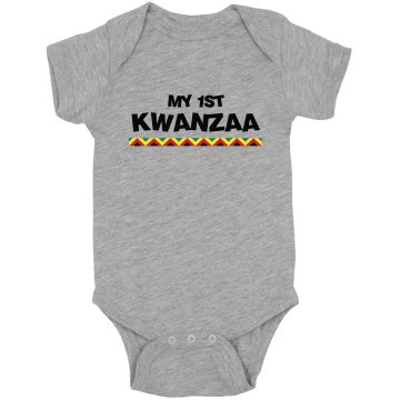 My 1st Kwanzaa Infant Rabbit Skins Lap Shoulder Creeper