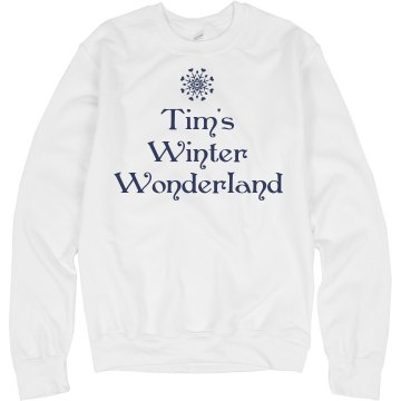 Tim's Winter Wonderland Junior Fit Bella Slit V-Neck Tee