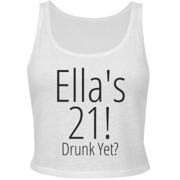 Ella's 21!  Junior Fit Bella Sheer Longer Length Rib Tank Top