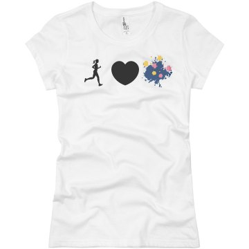 I Heart Color Runs Junior Fit Basic Bella Favorite Tee