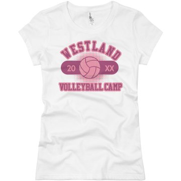 Westland Volleyball Camp Junior Fit Basic Bella Favorite Tee