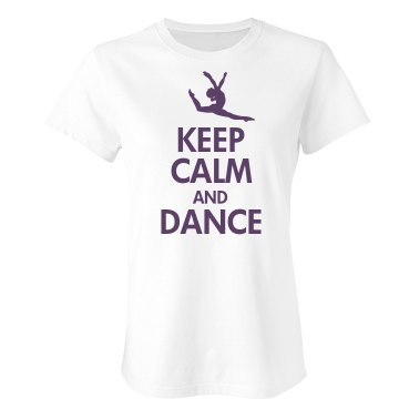 Keep Calm & Dance Junior Fit Bella Double V Sheer Jersey Tee