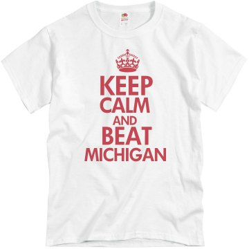 Beat Michigan Unisex Basic Gildan Heavy Cotton Crew Neck Tee