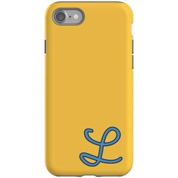 Custom L Monogrammed Case Rubber iPhone 4 &amp; 4S Case Black