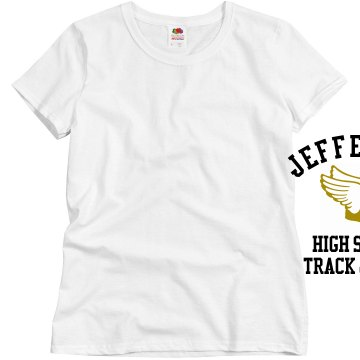 High School Track Misses Relaxed Fit Basic Gildan Ultra Cotton Tee