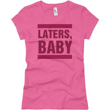 Laters Baby Bars Junior Fit Basic Bella Favorite Tee
