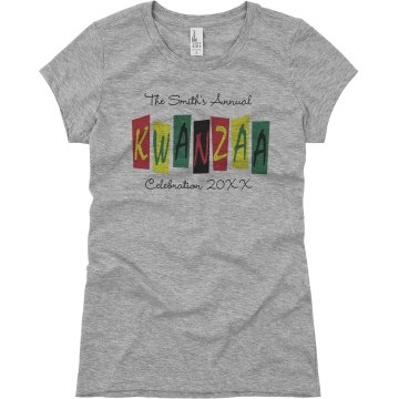 Kwanzaa Celebration Junior Fit Basic Bella Favorite Tee