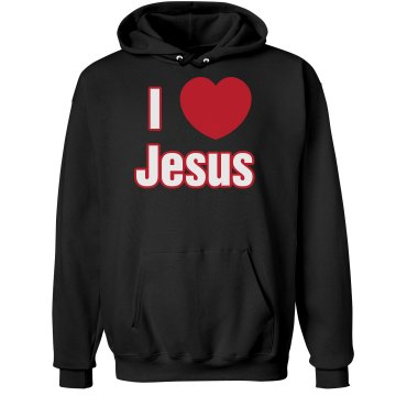 I Love Jesus Hoodie Unisex Hanes Ultimate Cotton Heavyweight Hoodie