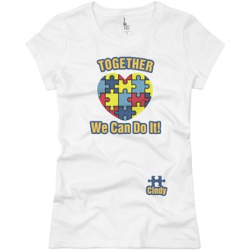 Beat Autism Together Junior Fit Basic Bella Favorite Tee