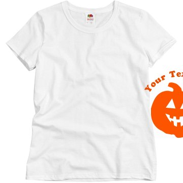 Customizable Pumpkin Misses Relaxed Fit Basic Gildan Heavy Cotton Tee