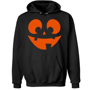 Happy Jack-O-Lantern Unisex Gildan Heavy Blend Hoodie