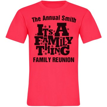Neon Family Reunion Thing Unisex American Apparel Neon Crew Neck Tee
