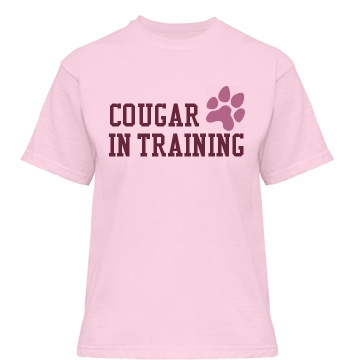 Cougar in Training Misses Relaxed Fit Basic Gildan Ultra Cotton Tee