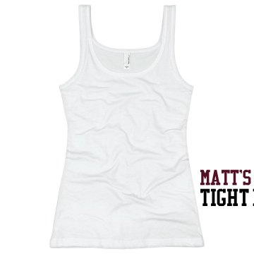 Matt's Tight End Junior Fit Basic Bella 2x1 Rib Tank Top