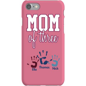 Mom Of 3 iPhone Case Plastic iPhone 5 Case Black