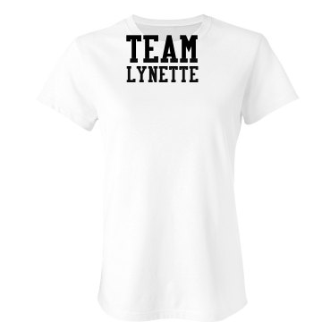 Team Lynette Junior Fit Bella Sheer Longer Length Rib Tee
