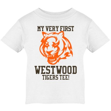 My First Tigers Tee Infant Rabbit Skins Lap Shoulder Tee