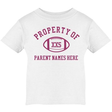 Property Of Parents Tee Infant Rabbit Skins Lap Shoulder Tee