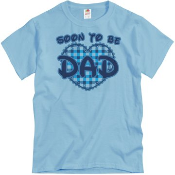 Soon To Be Dad Unisex Basic Gildan Heavy Cotton Crew Neck Tee