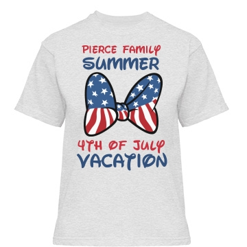 4TH of July Vacation Misses Relaxed Fit Gildan Heavy Cotton Tee