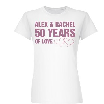 50 Wedding Anniversary Junior Fit Basic Bella Favorite Tee