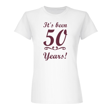 50 Year Anniversary Junior Fit Basic Bella Favorite Tee