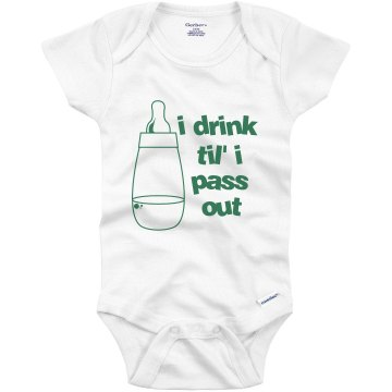 Baby Bottle Design Infant Gerber Onesies