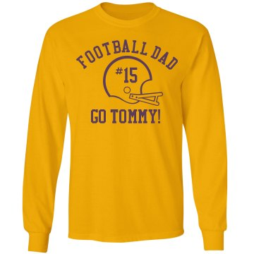 Football Dad Unisex Gildan Ultra Cotton Long Sleeve Tee
