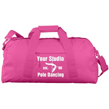 Pole Fitness Studio Bag Port & Company Large Square Duffel Bag