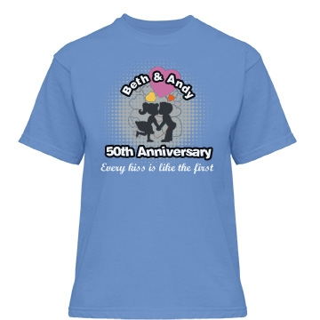 50th Anniversary Misses Relaxed Fit Gildan Heavy Cotton Tee