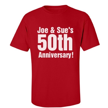 50th Anniversary Unisex Unisex Gildan Heavy Cotton Crew Neck Tee